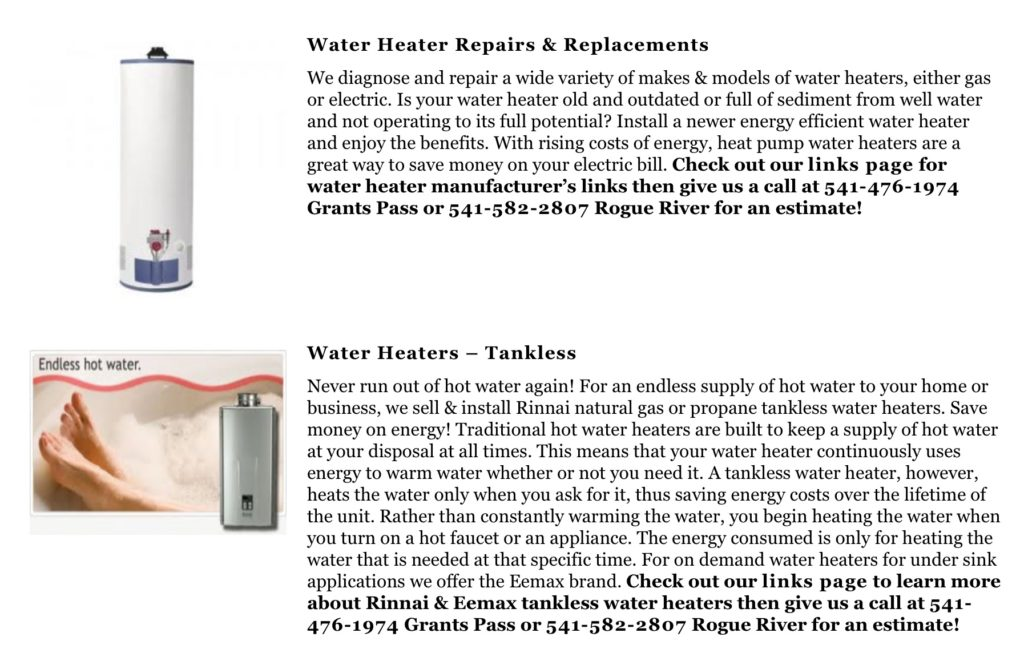 water-heater-repair-replacement-installation-grants-pass